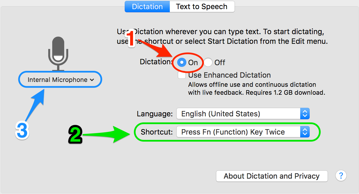 Dictation Settings for Creative Writing Trick