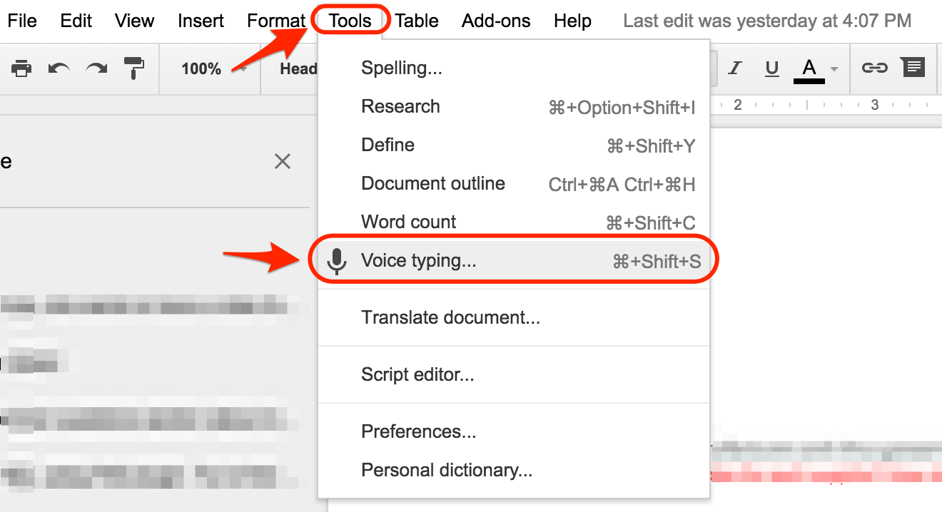 Google Docs Voice Typing for Creative Writing Trick